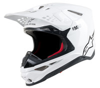 Supertech S-M10 Men's Solid Off-Road Motorcycle Helmet - White / 2X-Large