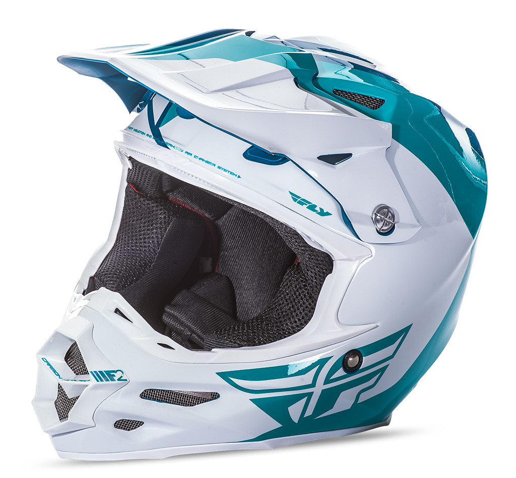 F2 Carbon Pure Helmet Teal/White 2X