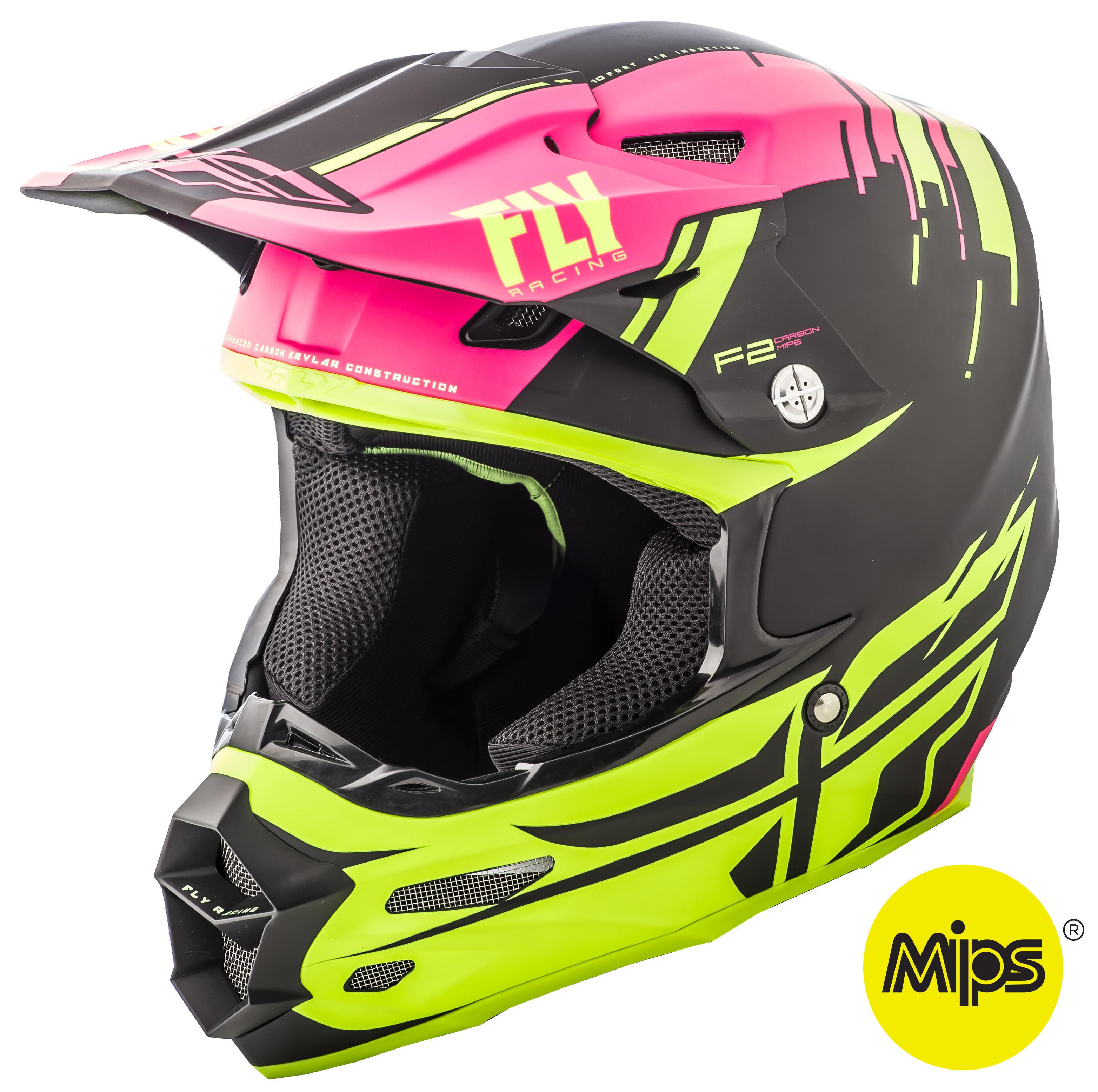 F2 Carbon Forge Helmet Matte Pink/Hi-Vis/Black 2X