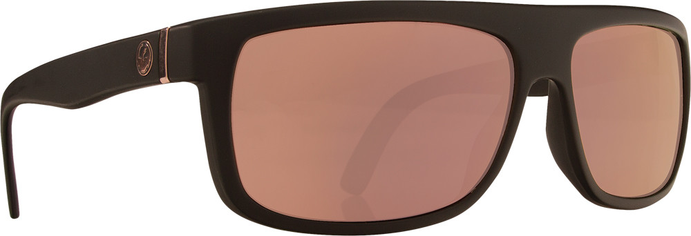 Wormser Sunglasses Matte Black W/Rose Gold Lens