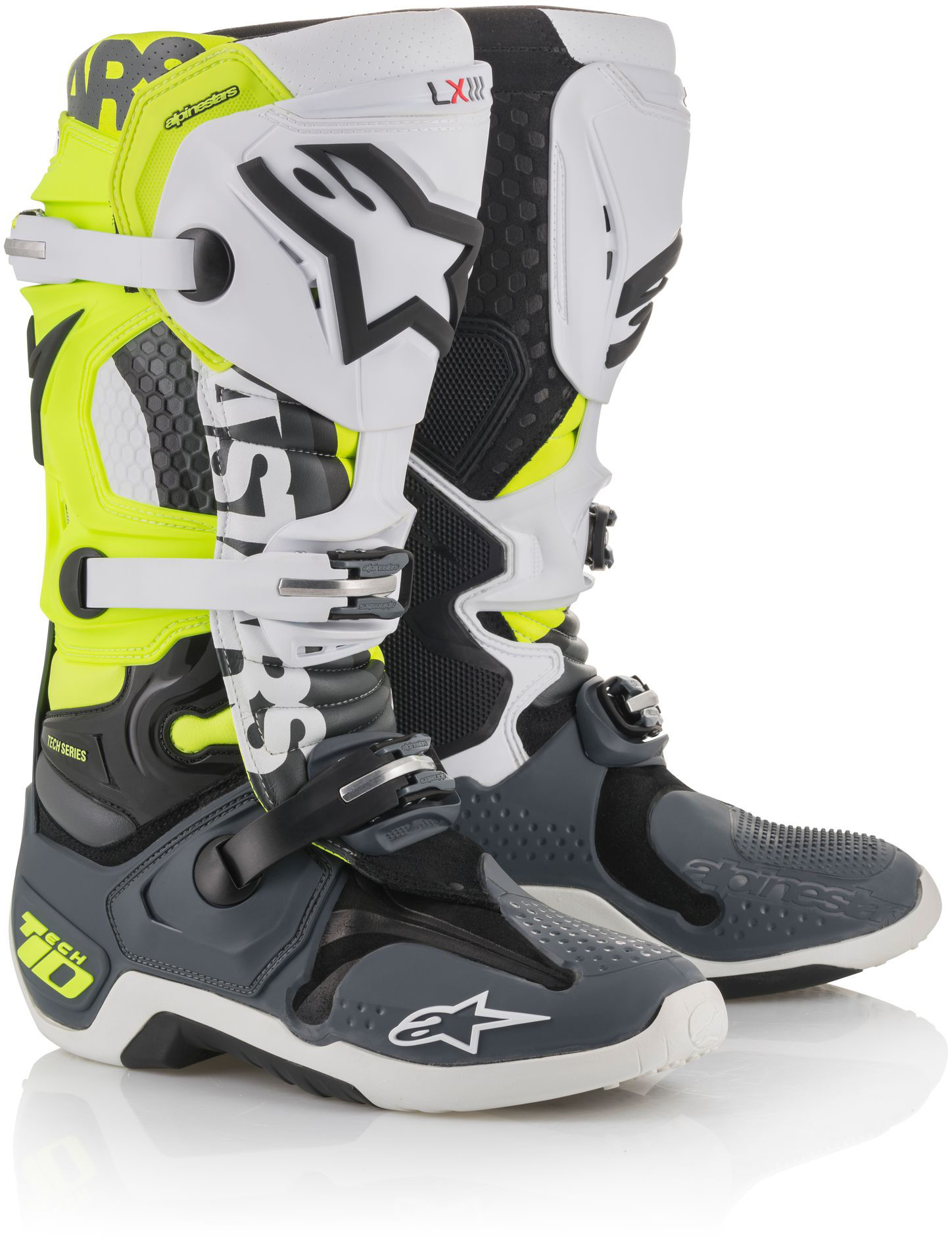 Angel Tech 10 Boots Flo. Yellow/Grey/Black Sz 10