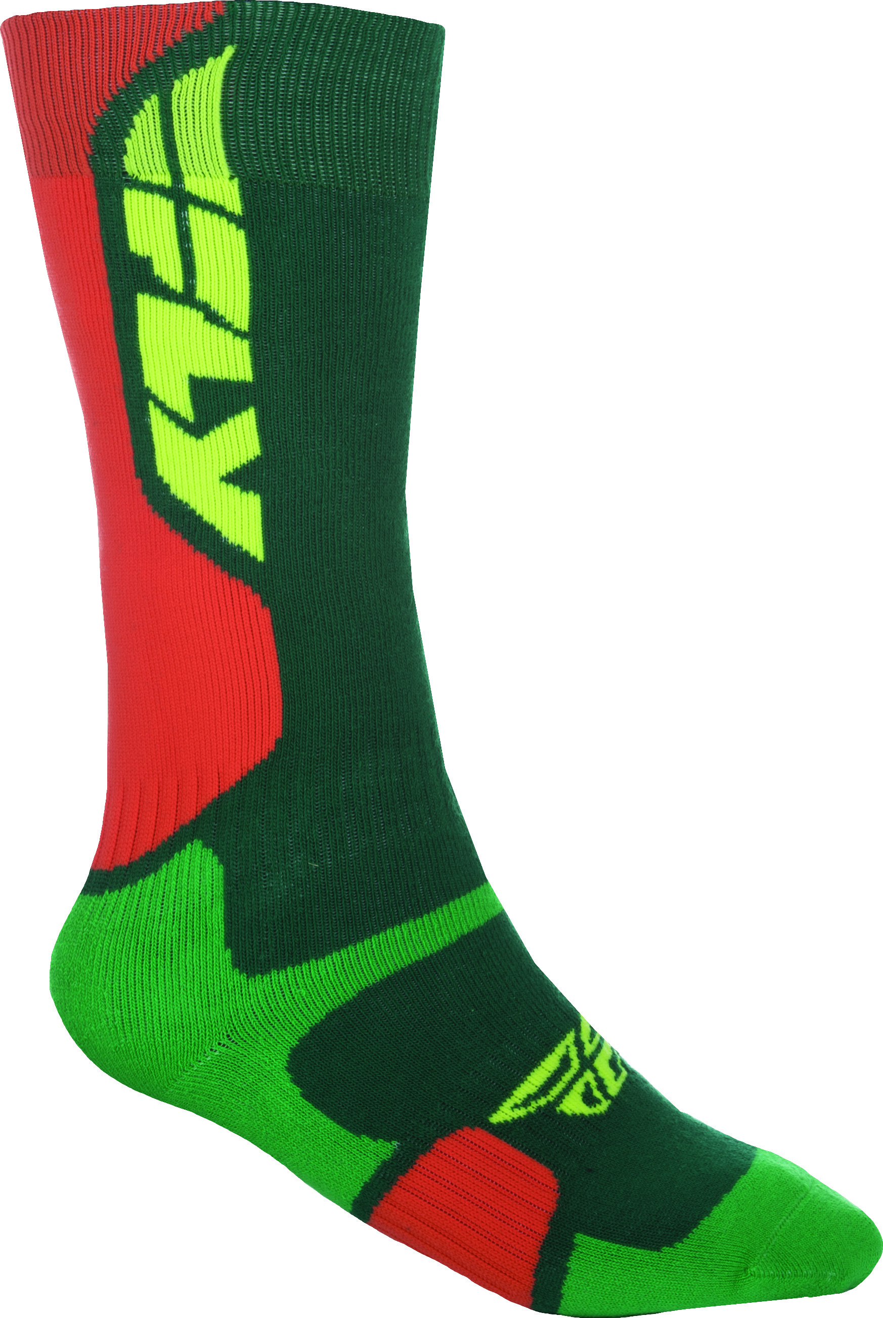 Mx Pro Sock Thick Green/Orange L/X