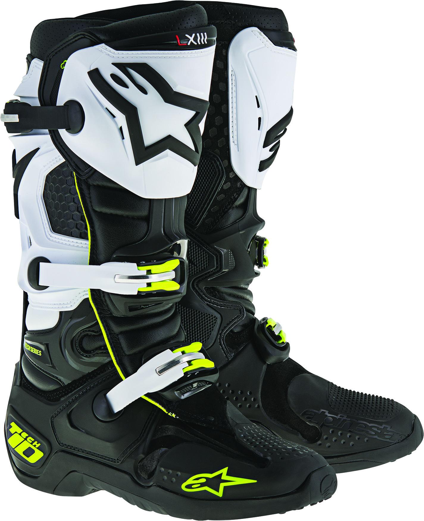 Tech 10 Boots Black/White Sz 10