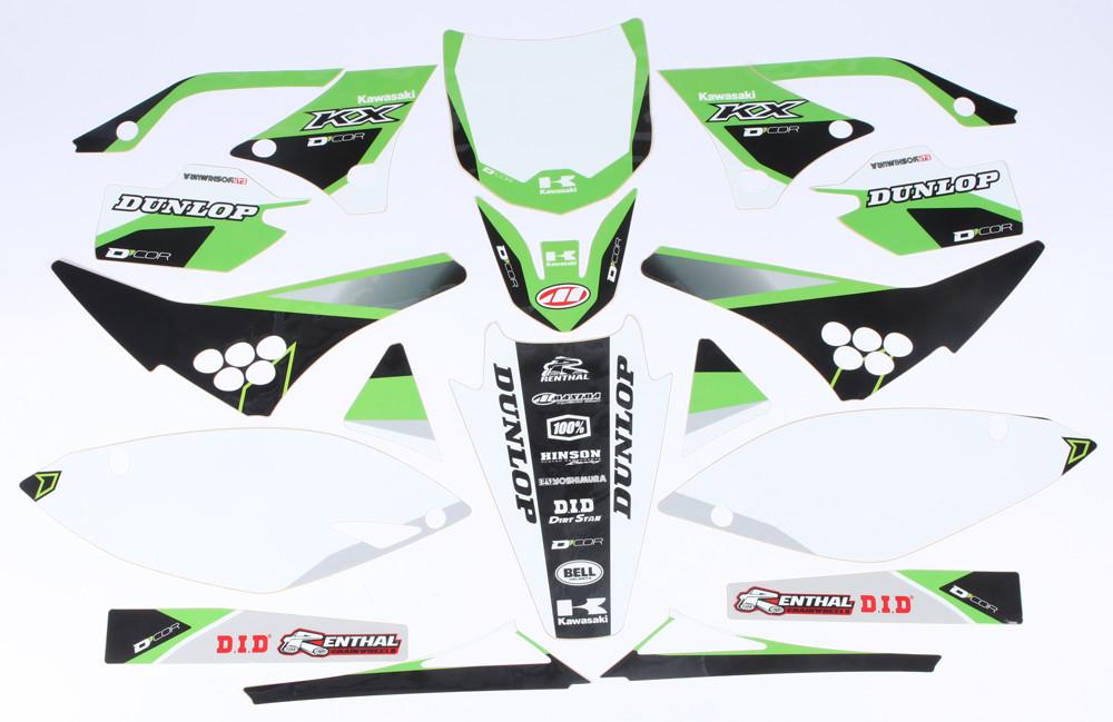 Kawasaki Raceline Graphics Complete Kit White 862-2204