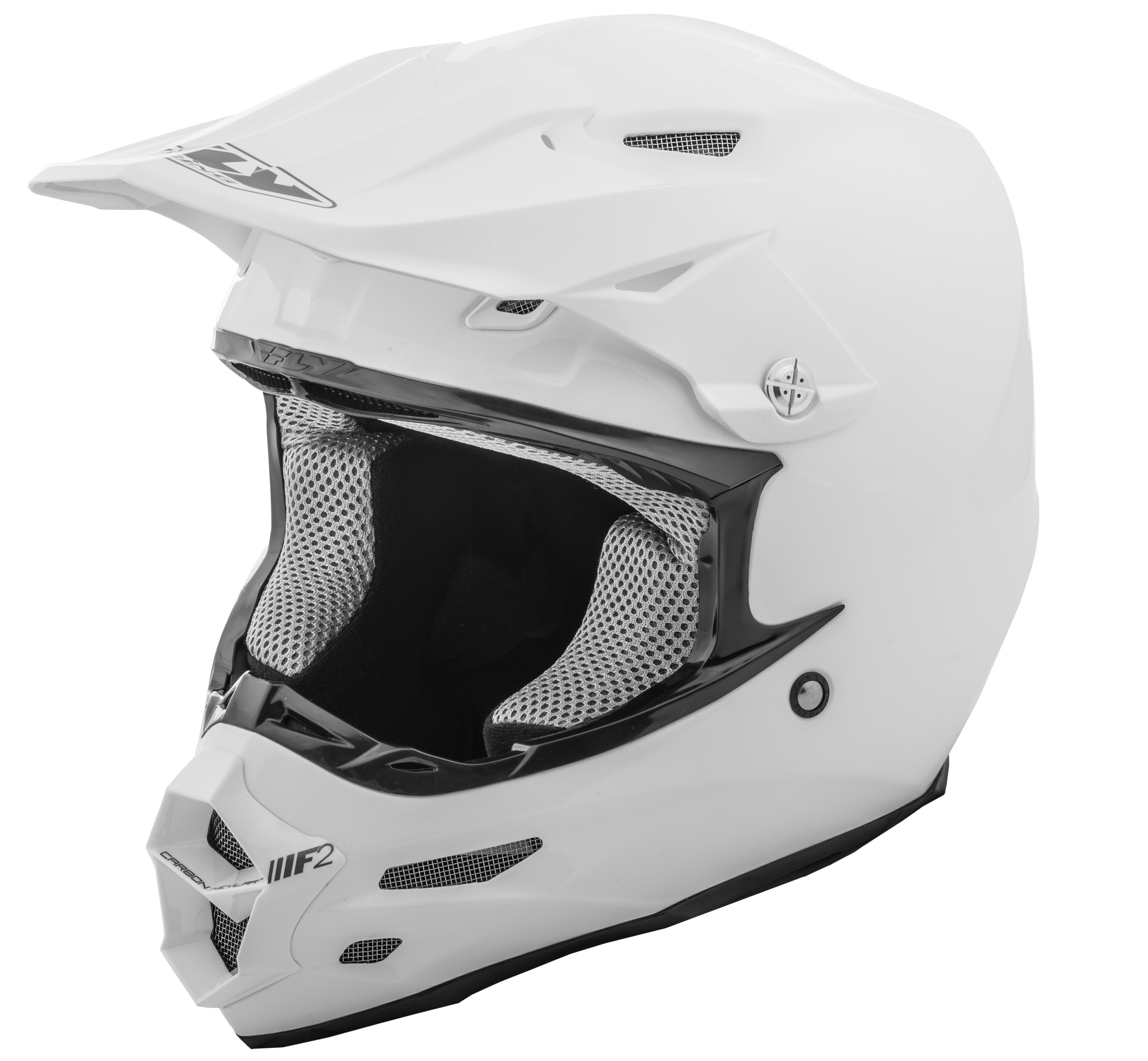 F2 Carbon Solid Helmet White 2X