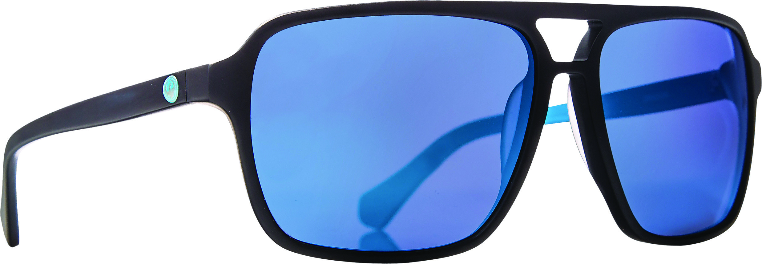Passport Sunglasses Matte Blk Blue W/Sky Blue Ion Lens