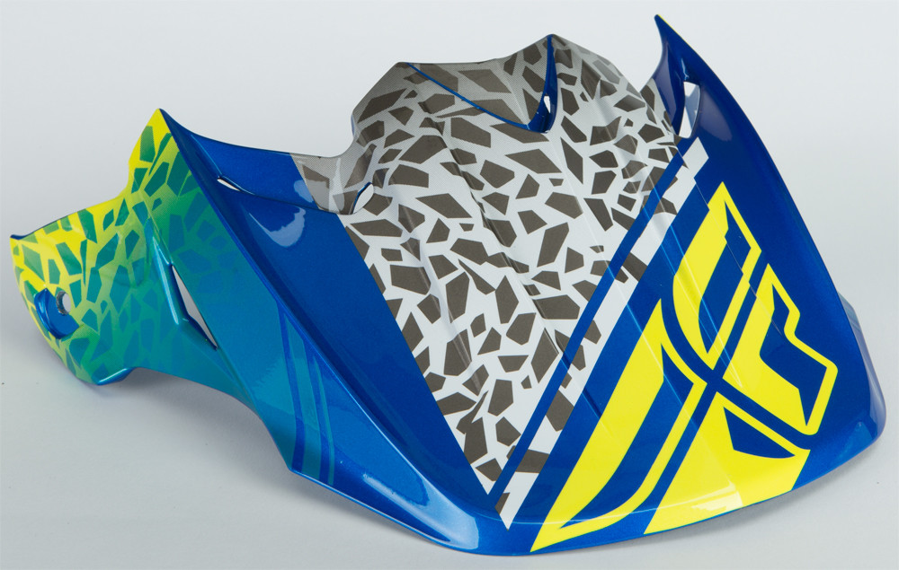 F2 Animal Visor Yellow/Blue/White