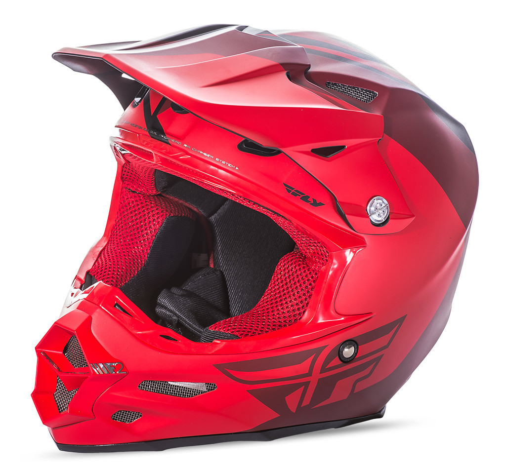 F2 Carbon Pure Helmet Matte Red/Black 2X