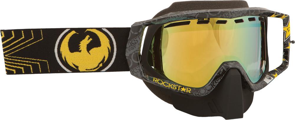 Vendetta Goggle Rockstar Black W/Gold Ion Lens