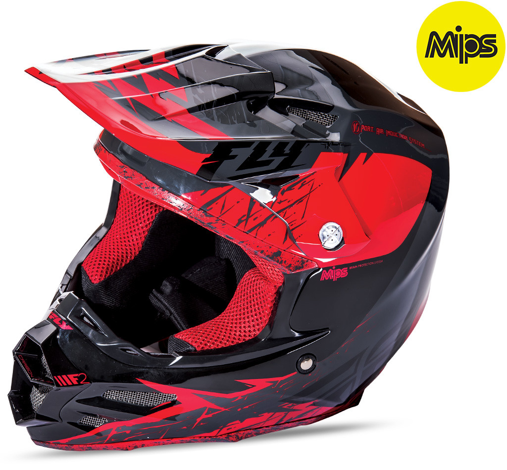 F2 Mips Retrospec Helmet Red/Black 2X