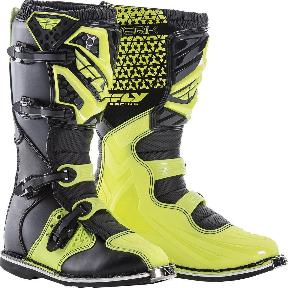 Maverik Mx Boots Hi-Vis Sz 10