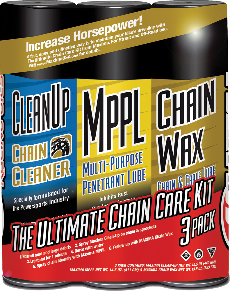 Ultimate Chain Wax Care Kit 3/Pk