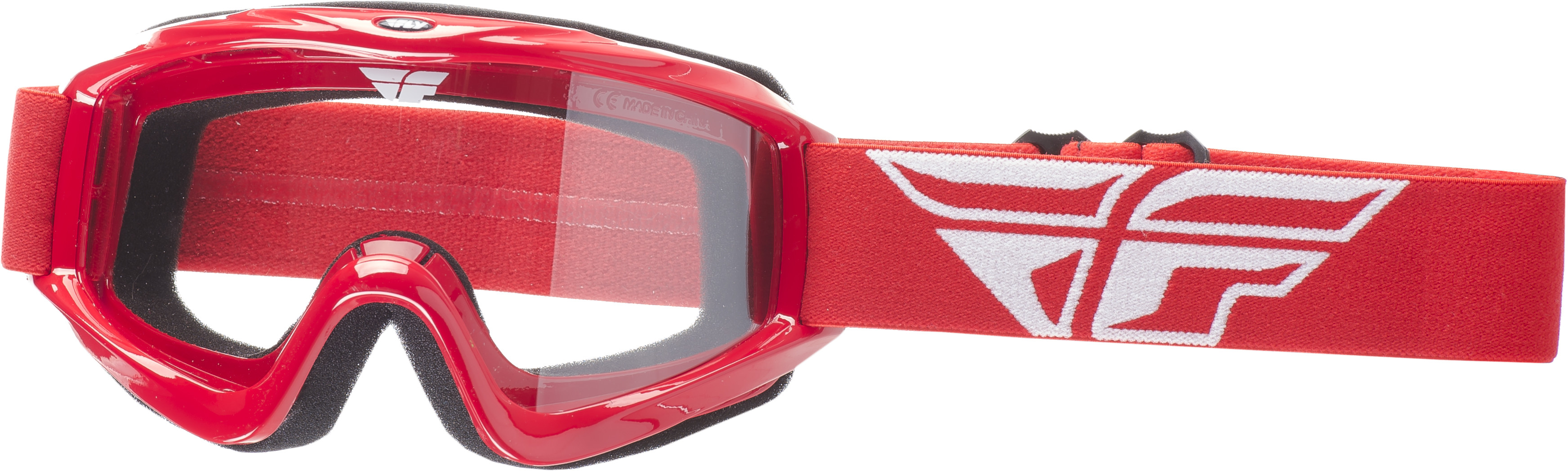 Focus Goggle Red W/ Clear Lens