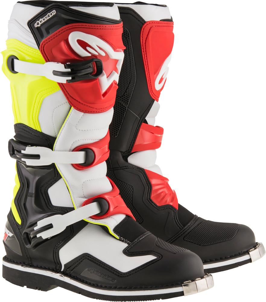 Tech 1 Boots Black/White/Yellow/Red Sz 12