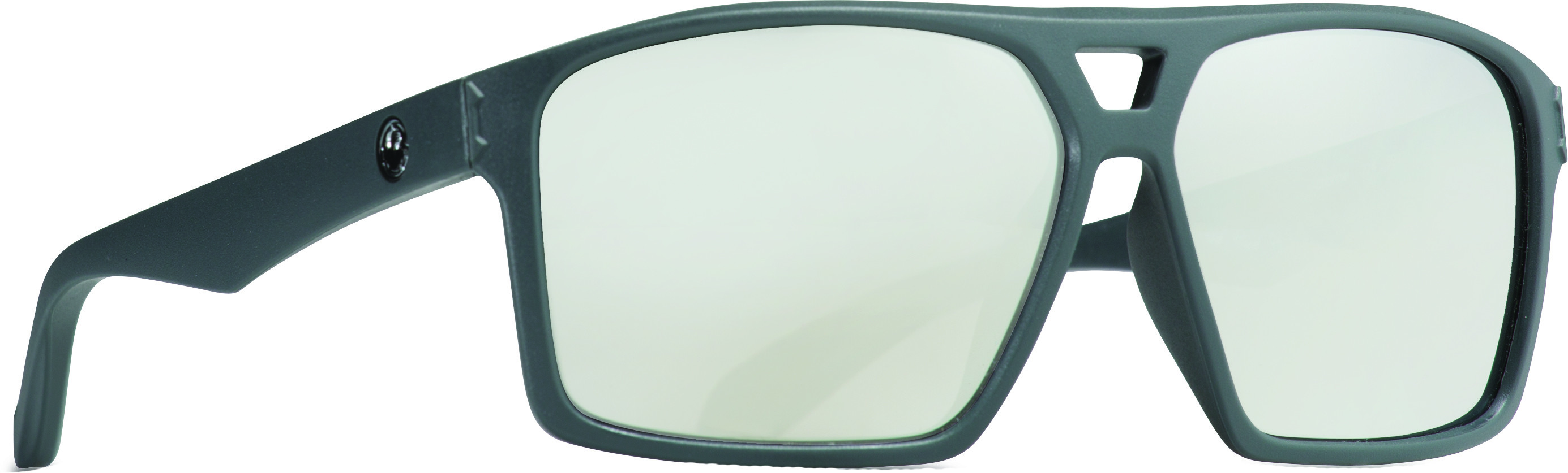 Channel Sunglasses Matte Grey W/Silver Ion Lens
