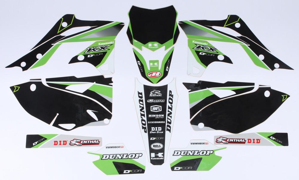 Kawasaki Raceline Graphics Complete Kit Black 862-2203