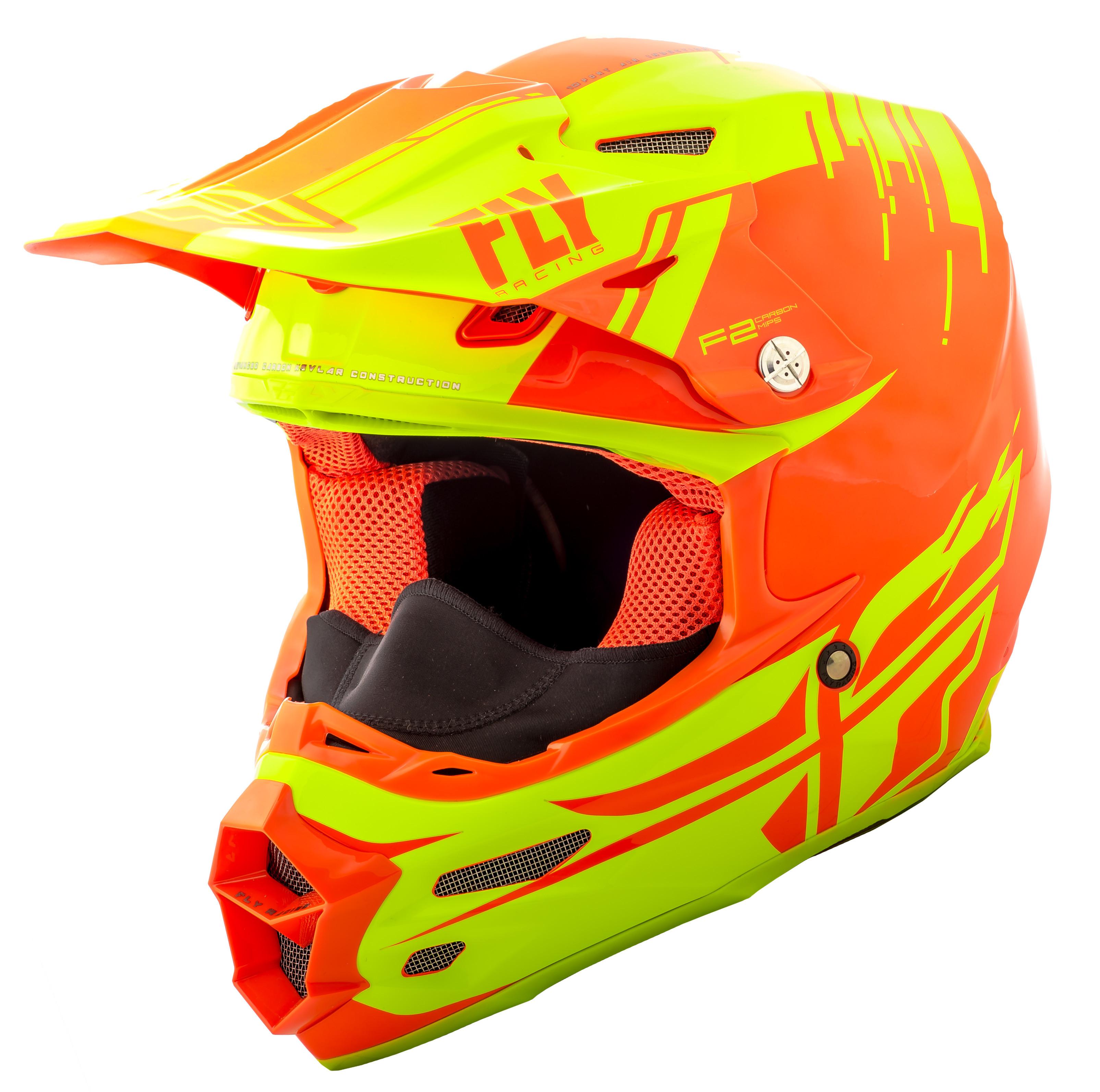 F2 Carbon Forge Cold Weather Helmet Hi-Vis/Orange 2X