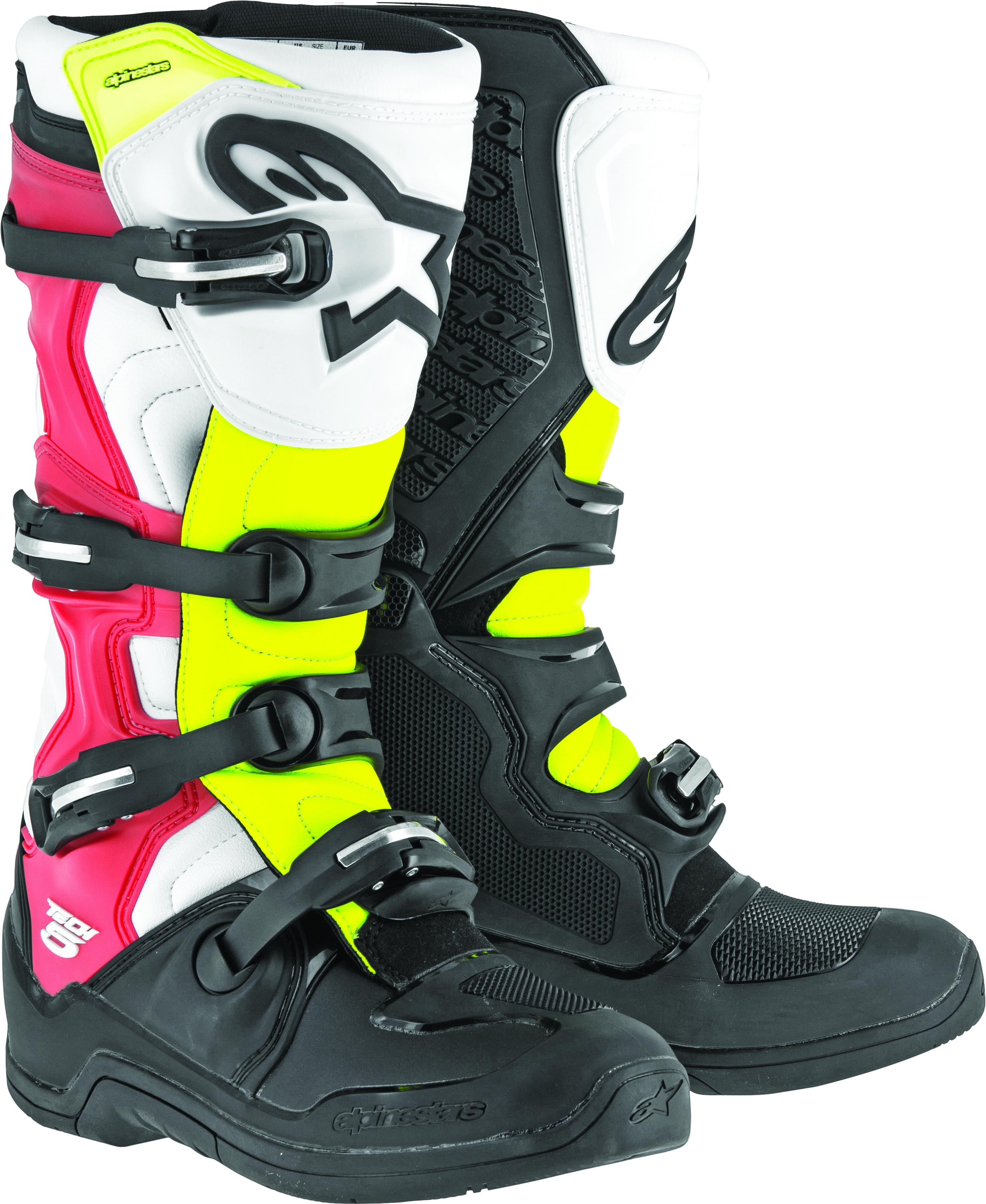 Tech 5 Boots Black/White/Red/Yellow Sz 10