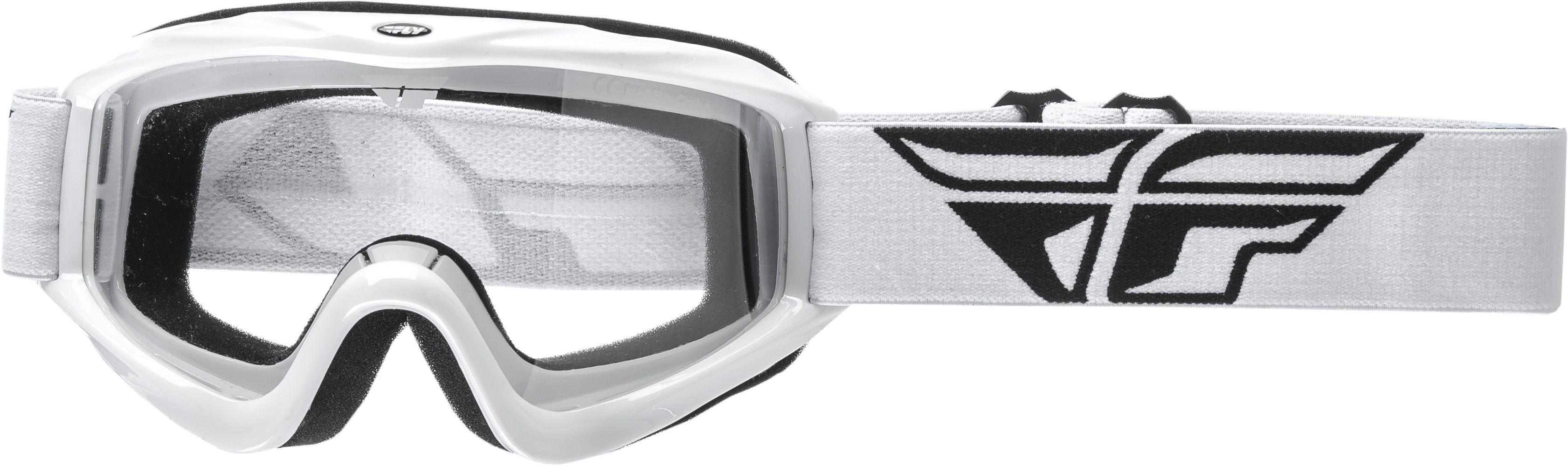 Focus Goggle White W/ Clear Lens