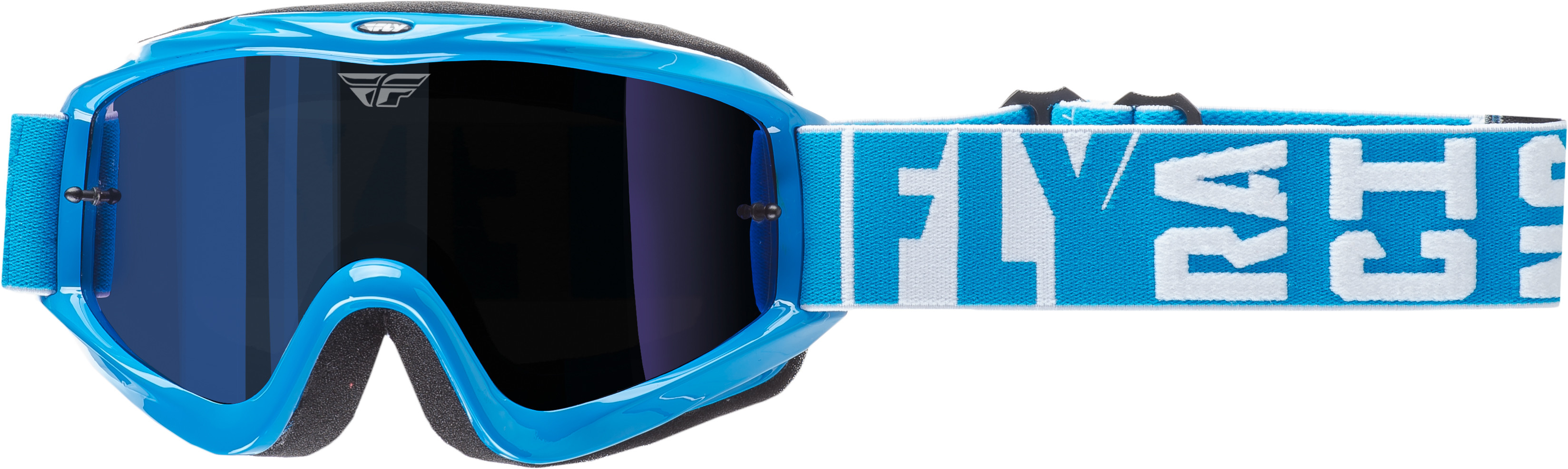 Zone Turret Goggle Blue W/ Blue Mirror/Smoke Lens