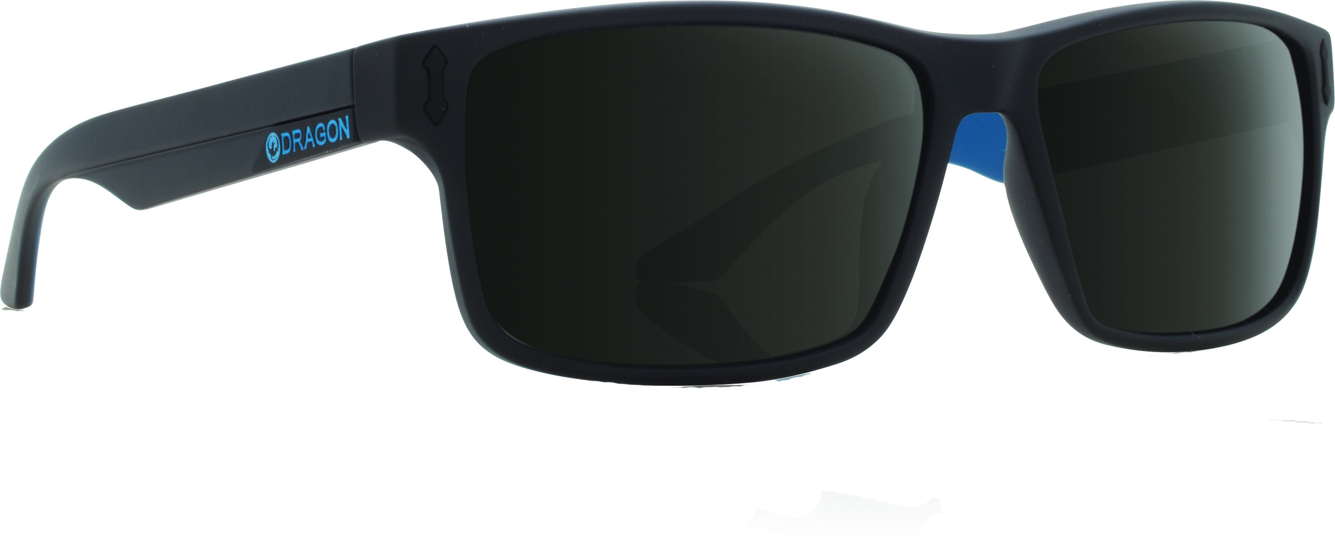 Count Sunglasses Matte Black W/Blue Lens