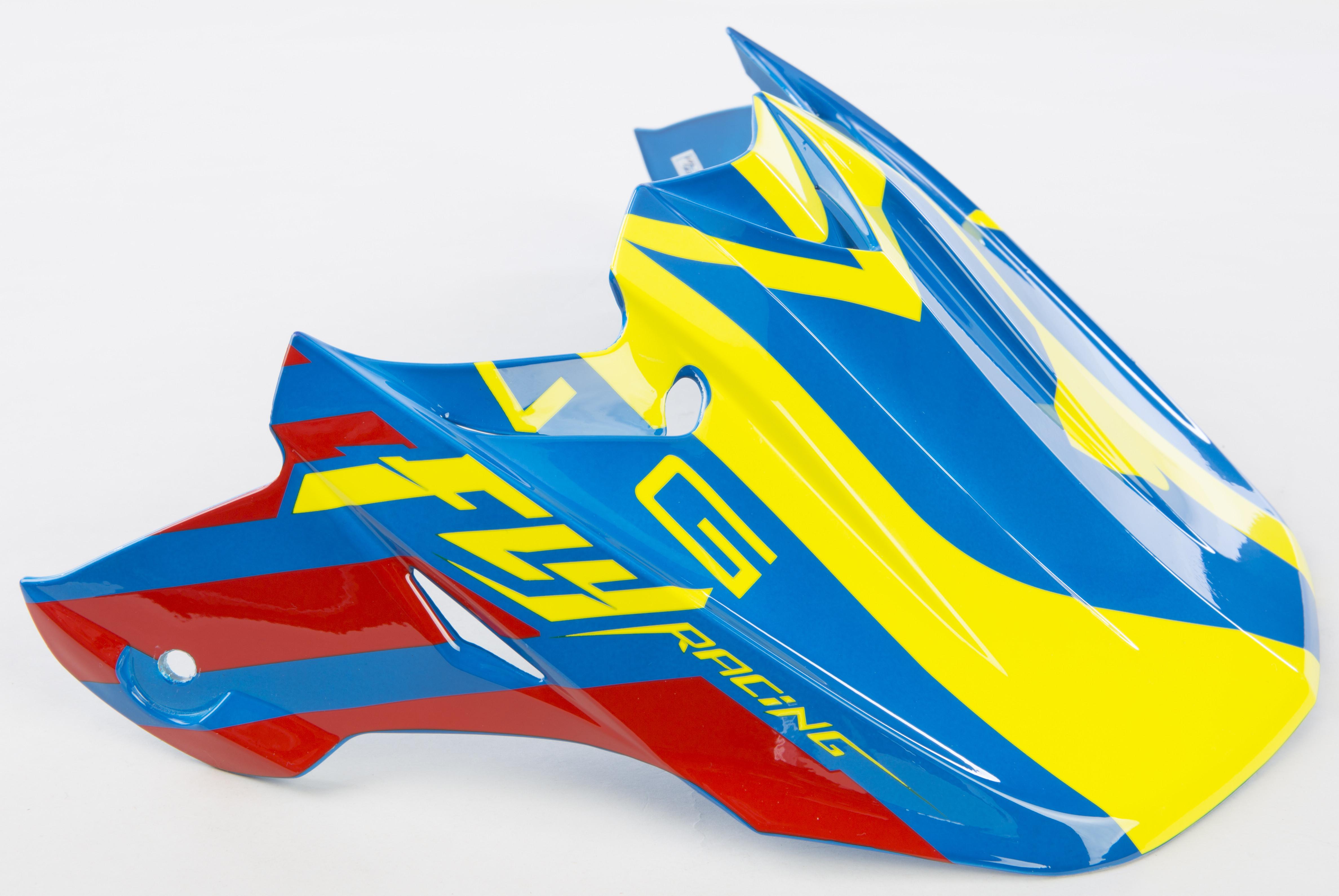 F2 Carbon Mips Helmet Visor (Blue/Red/Hi-Vis)