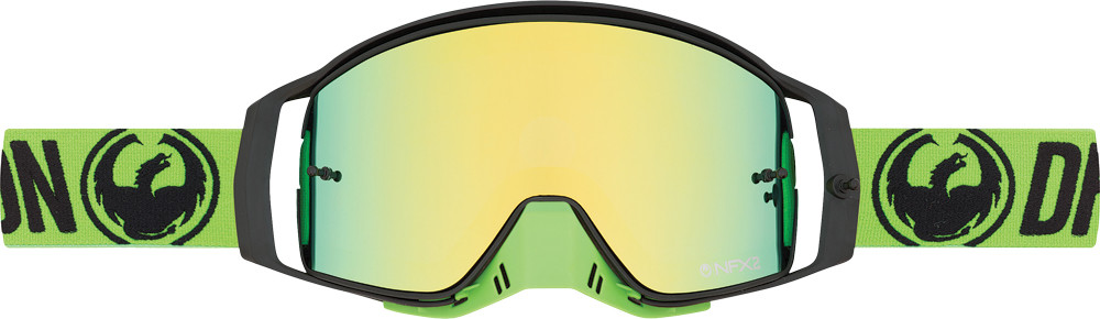Nfx2 Break Green Smoke Gold 10/Pk Tear Offs/Lens Shield