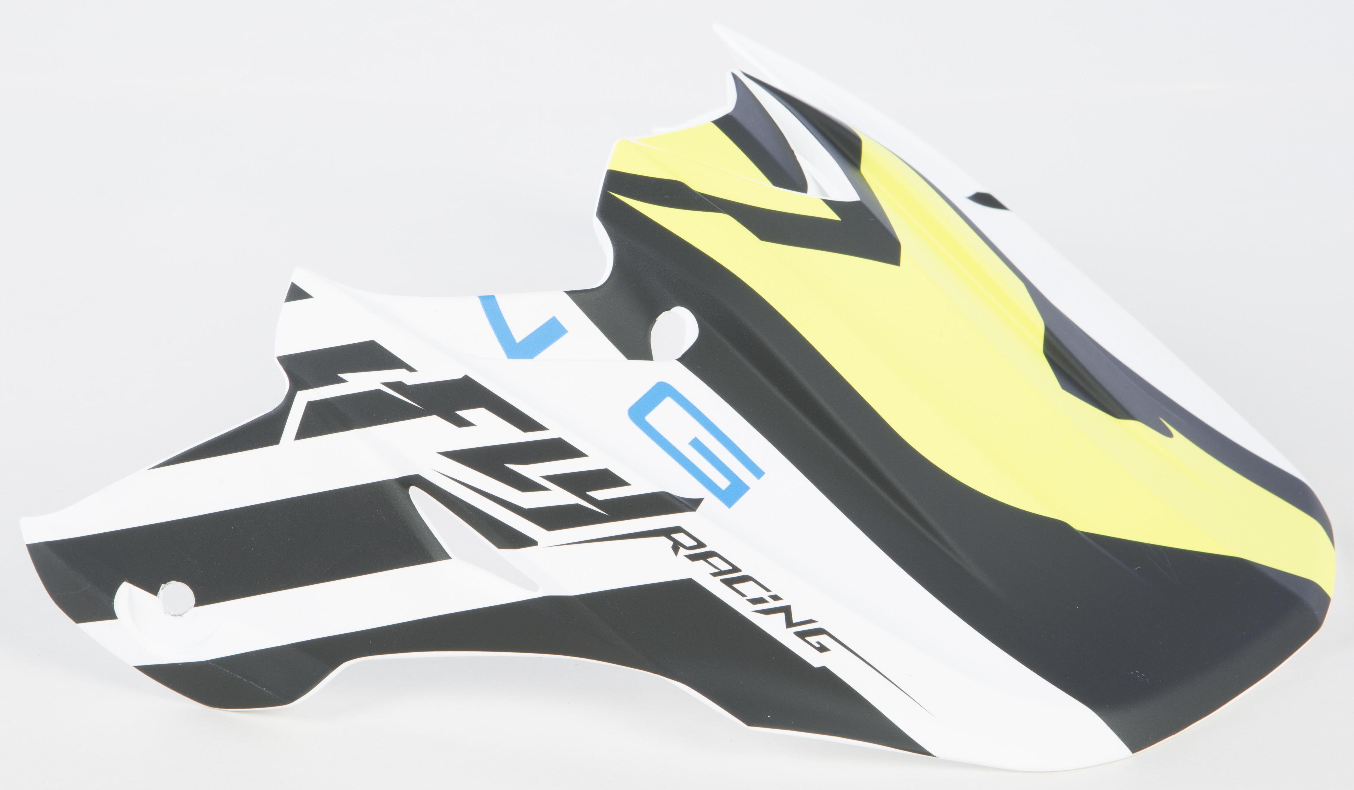 F2 Carbon Mips Helmet Visor (Matte White/Black/Hi-Vis)