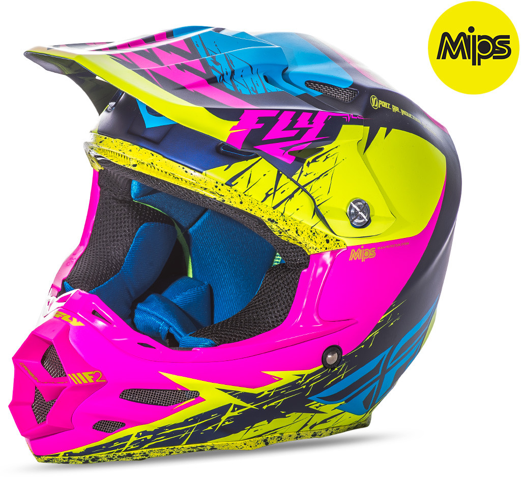 F2 Mips Retrospec Helmet Matte Hi-Vis/Pink 2X