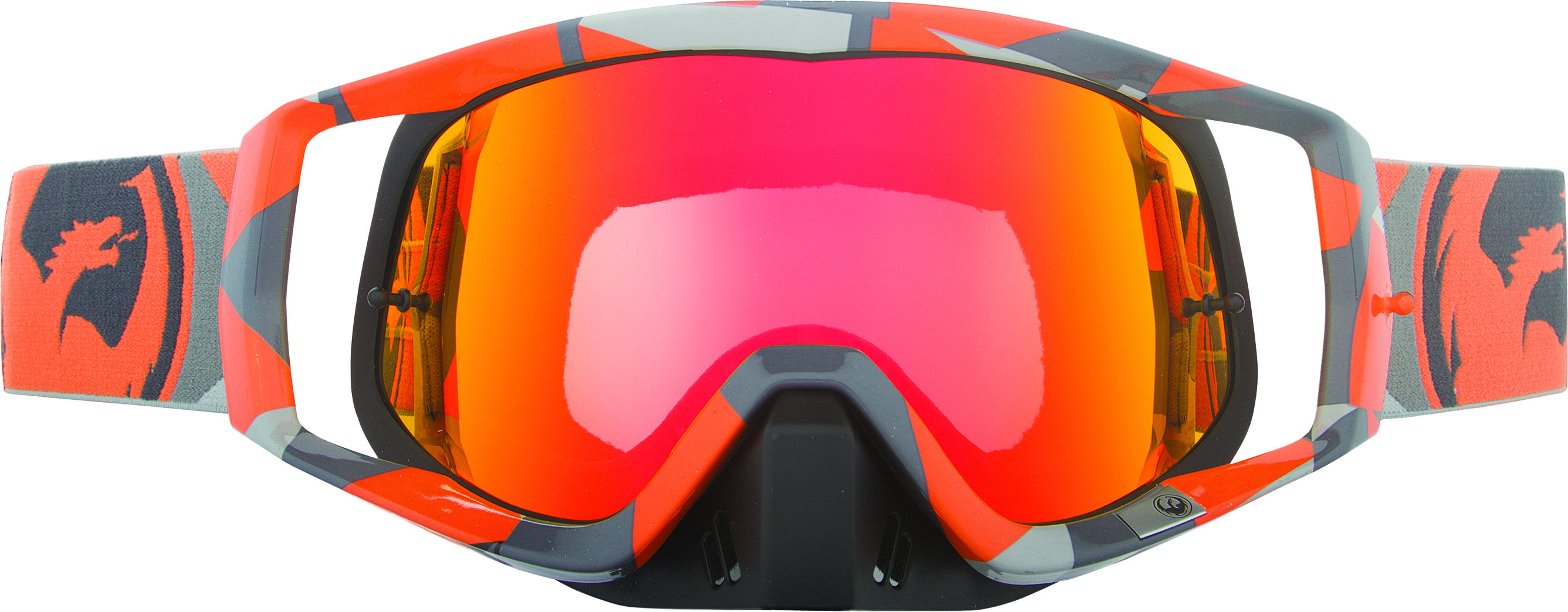 Vendetta Goggles Orange Flair Red Ion W/10 Pk Tearoff