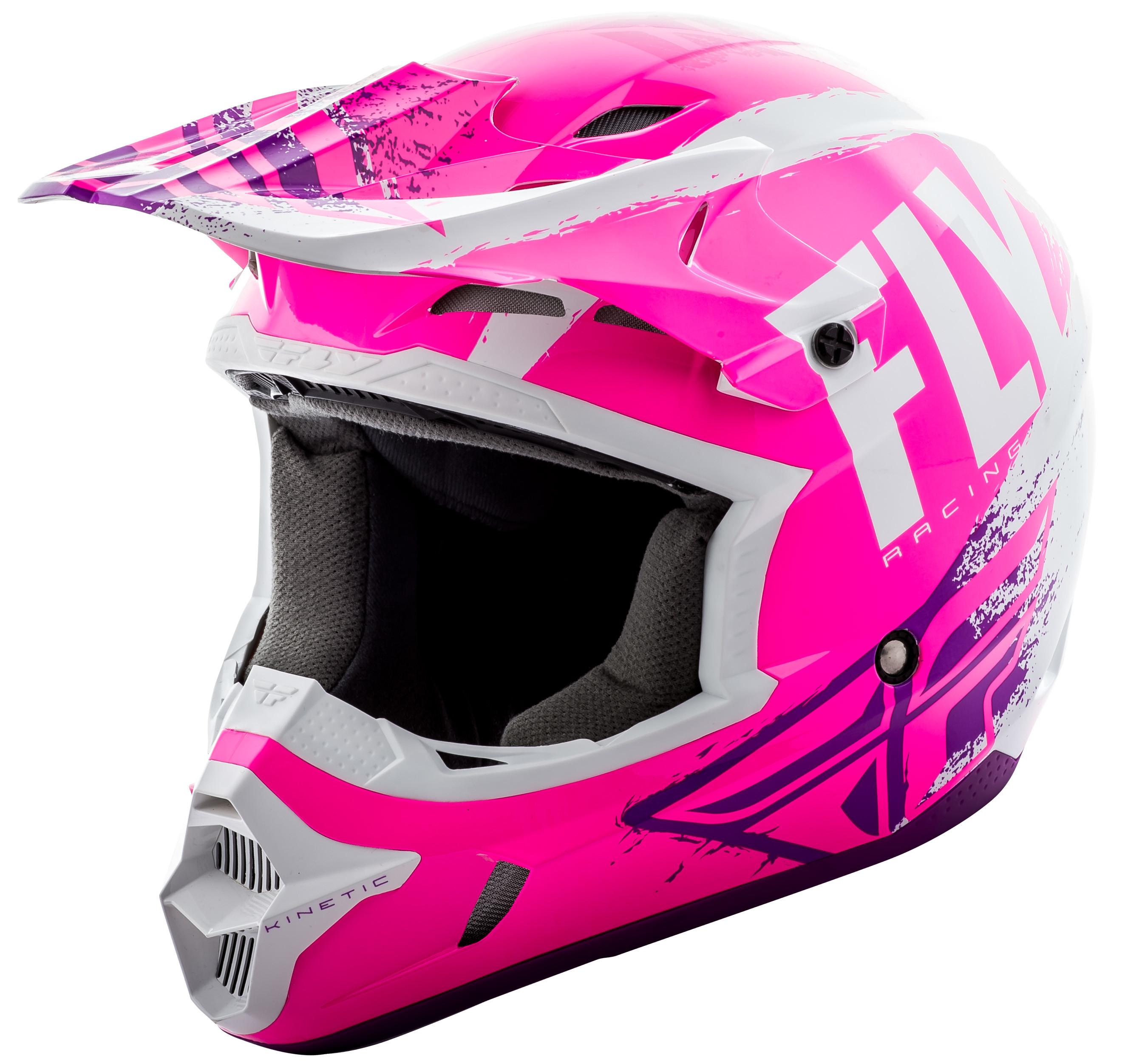 Kinetic Burnish Helmet Neon Pink/White/Purple 2X