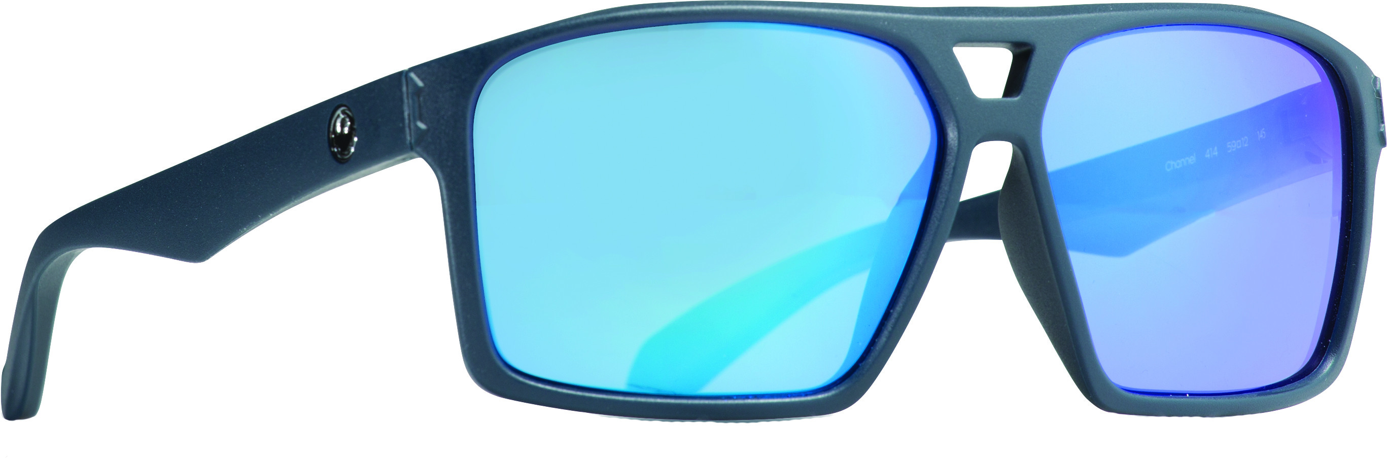Channel Sunglasses Matte Deep Navy W/Blue Ion Lens