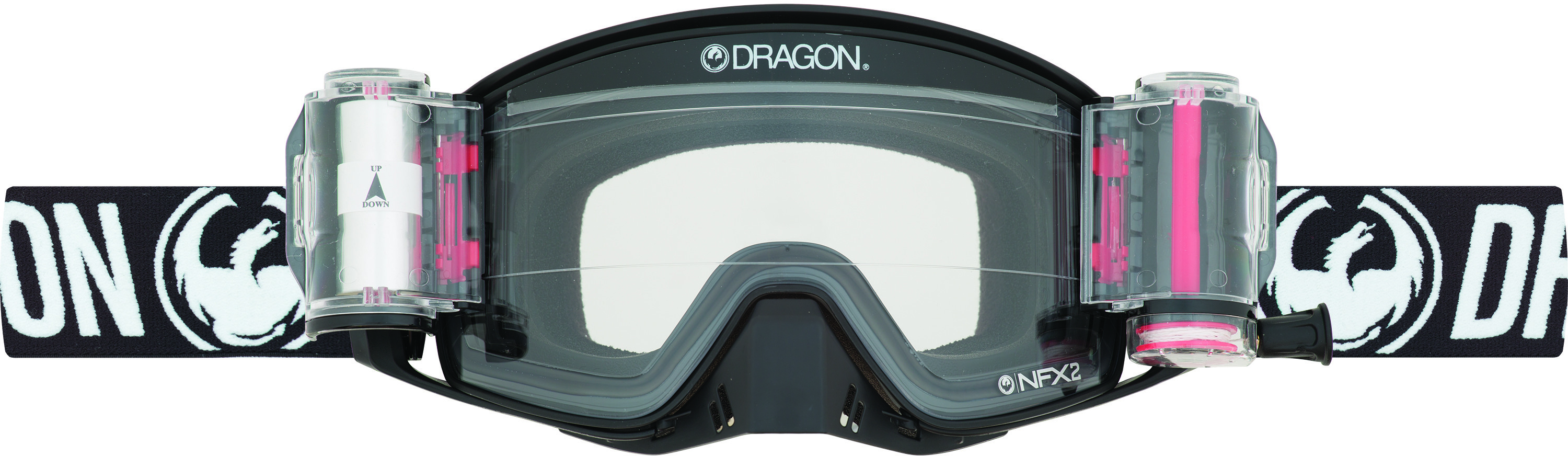Nfx2 Goggle Coal Rrs W/Dragon Strap And Injected Clear Lens