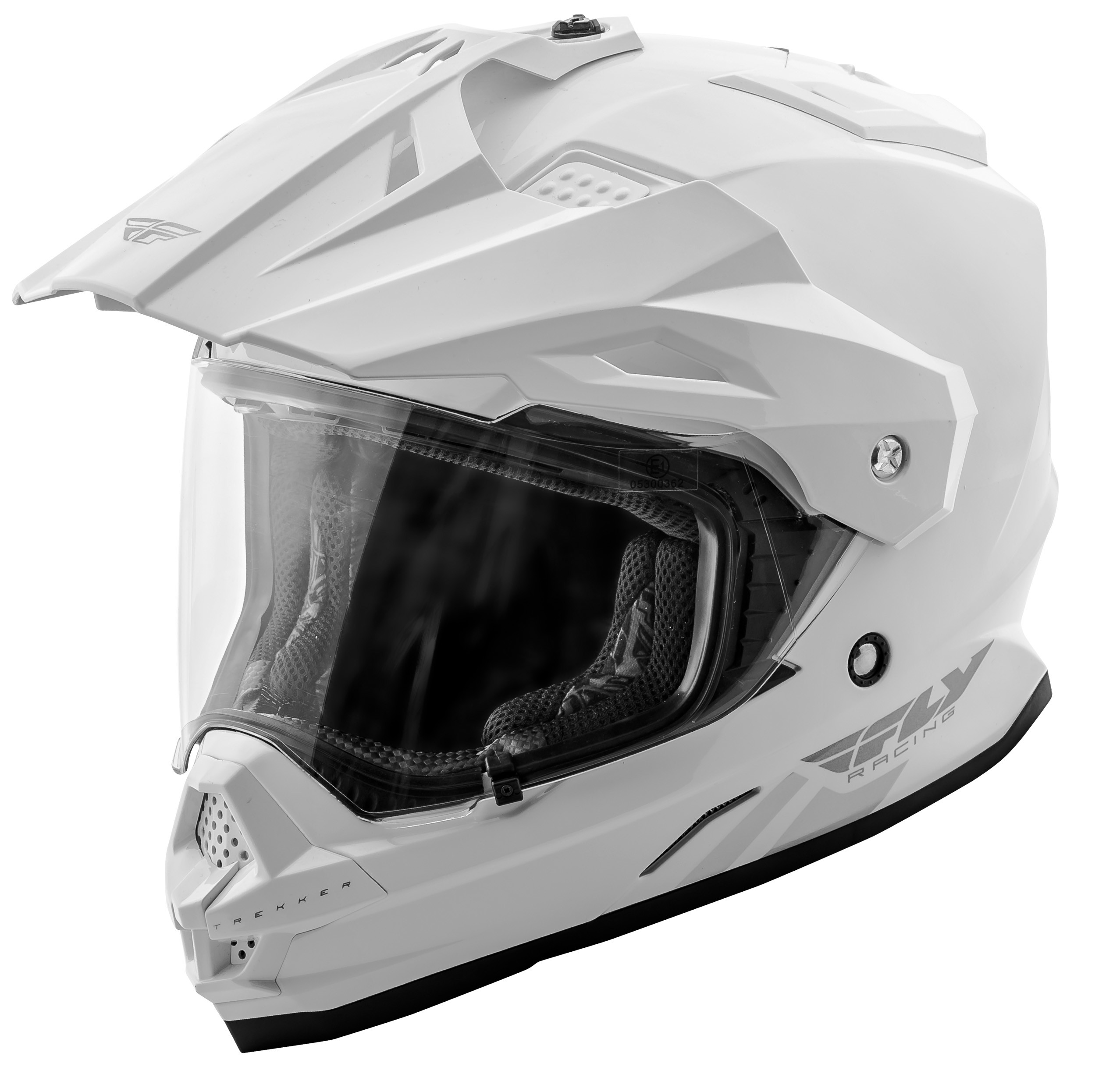 Trekker Solid Helmet White Md