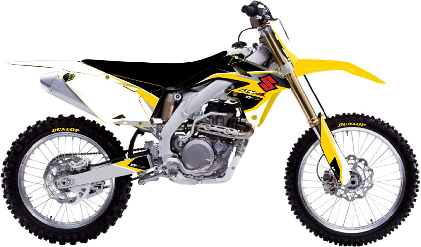 Suzuki Raceline Graphics Complete Kit White 862-4203