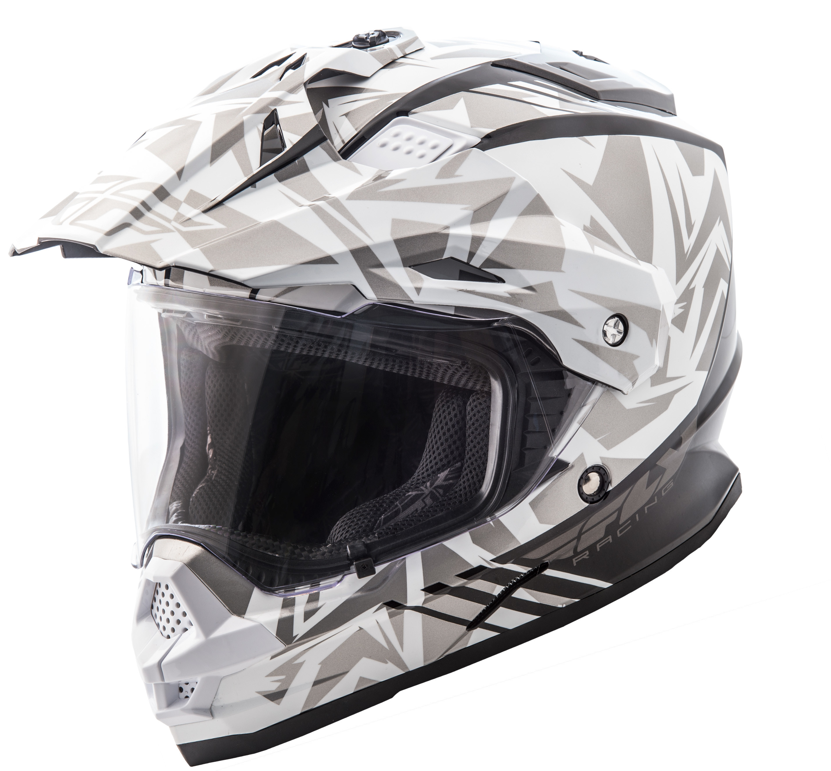 Trekker Nova Helmet White/Grey Md
