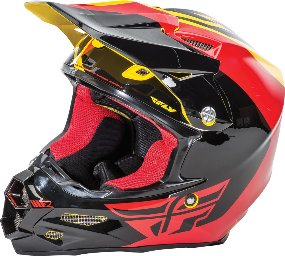F2 Carbon Pure Helmet Yellow/Black/Red L
