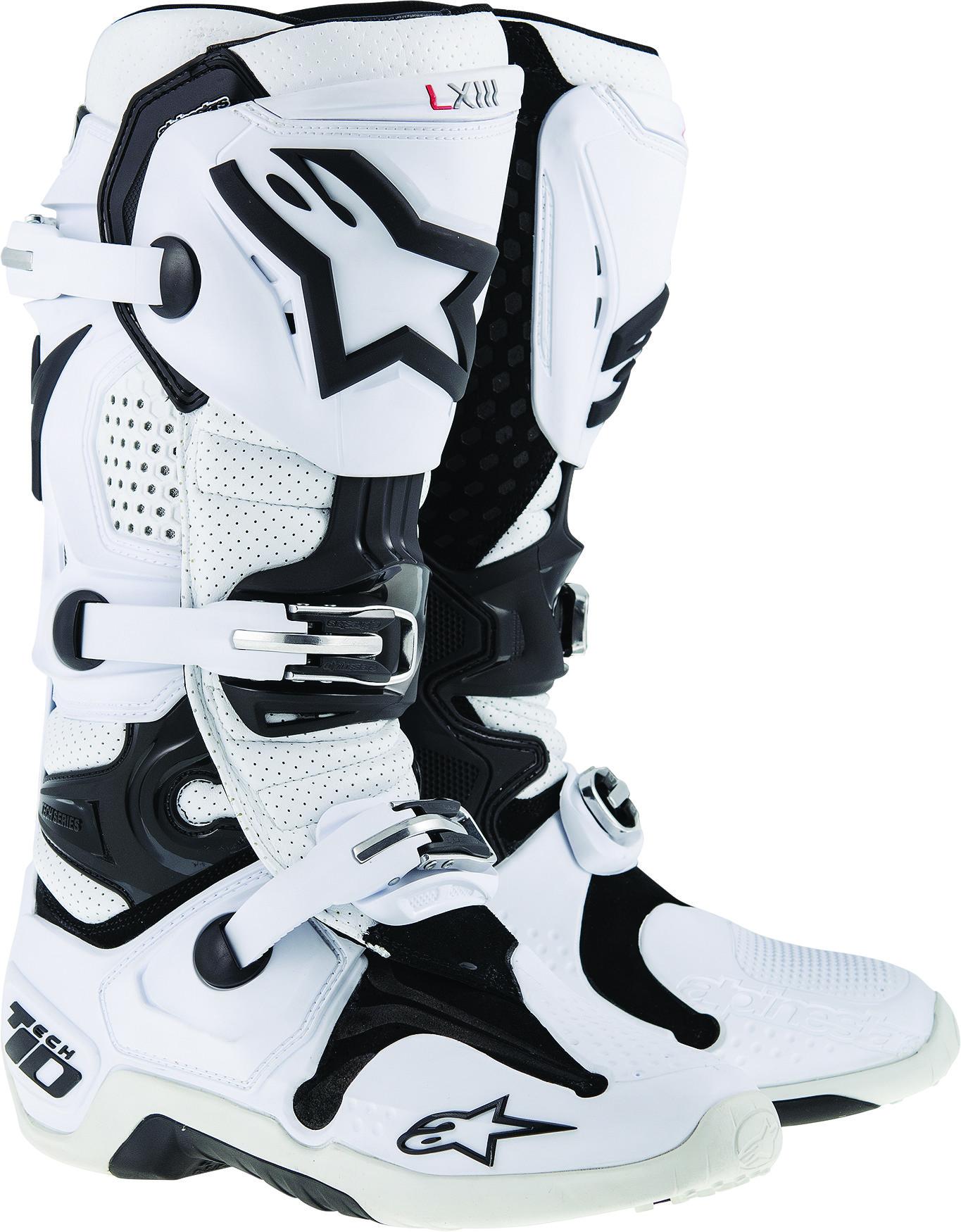 Tech 10 Boots White Vented Sz 10