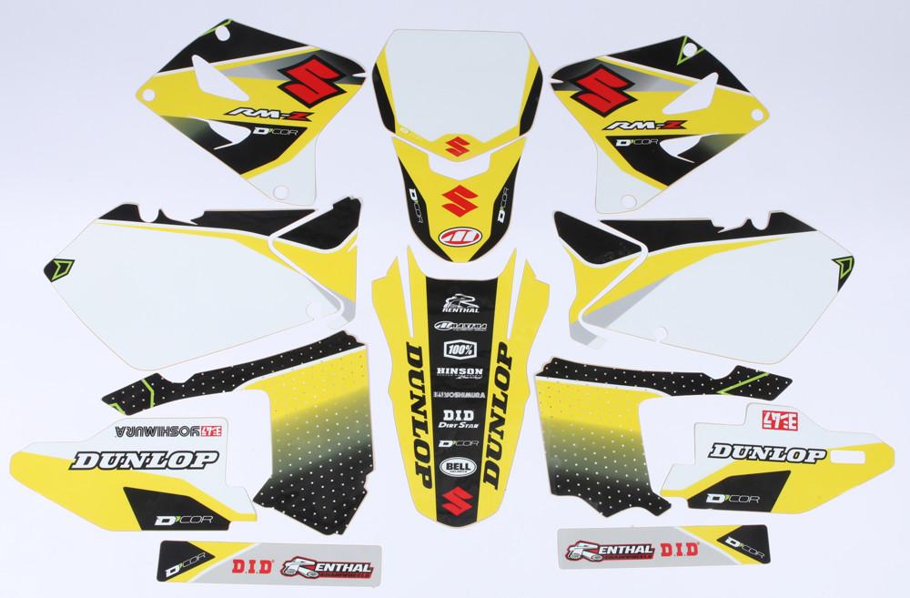 Suzuki Raceline Graphics Complete Kit White 862-4201