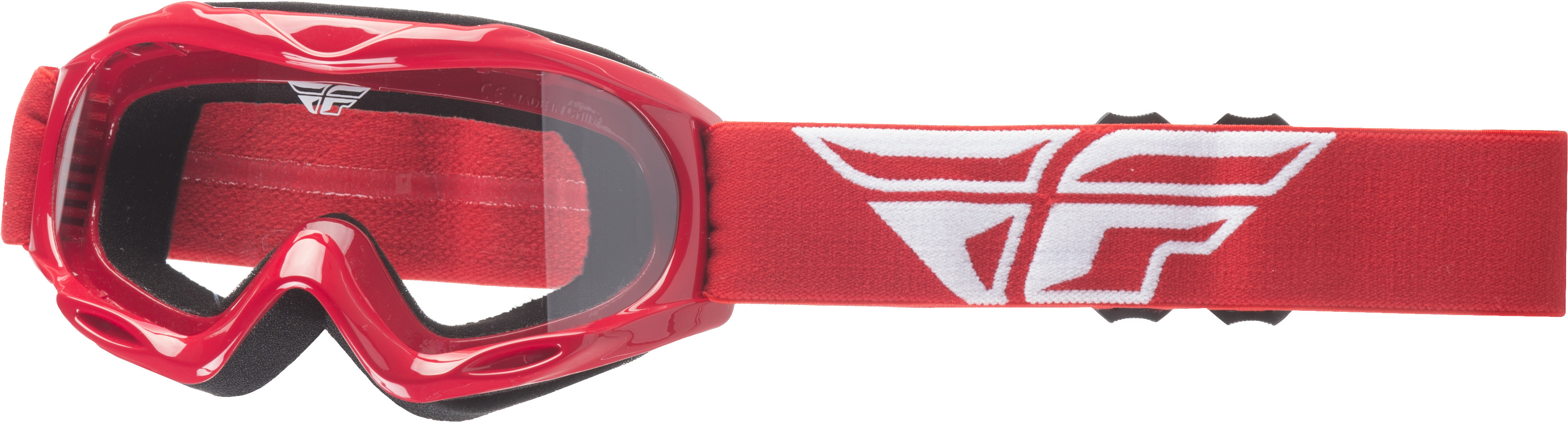 Focus Youth Goggle Red W/ Clear Lens