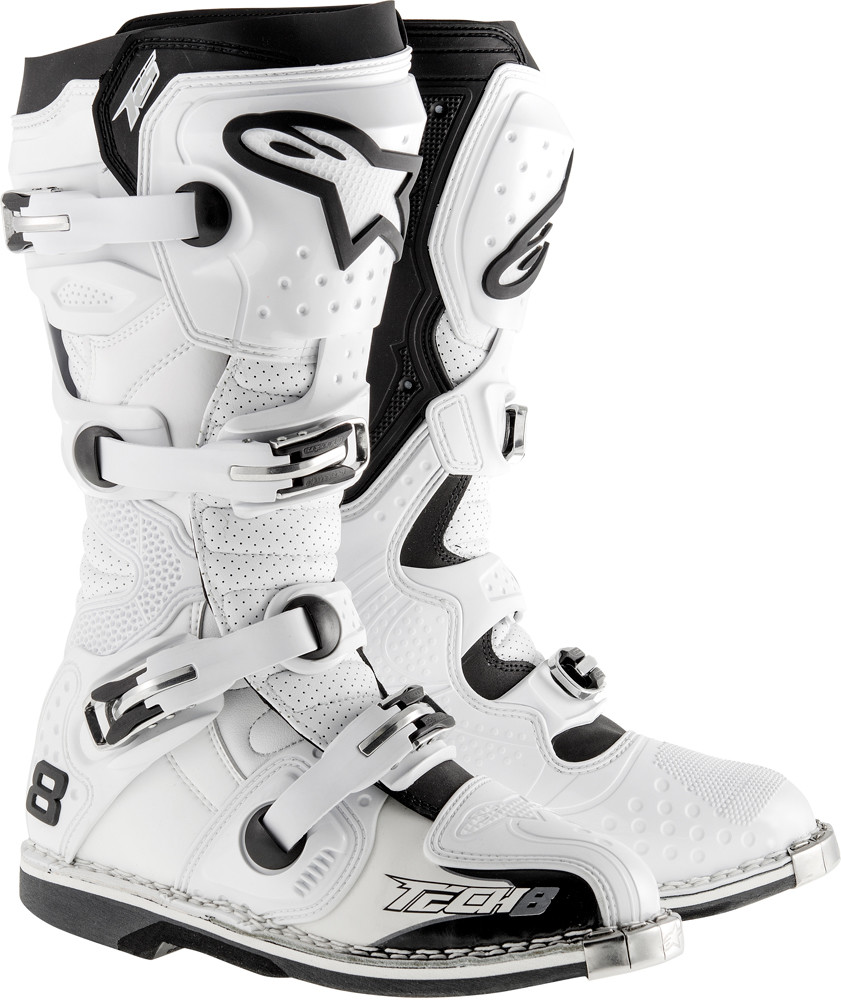 Tech 8 Rs Boots White Vented Sz 10