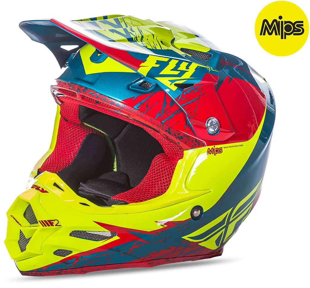 F2 Mips Retrospec Helmet Red/Hi-Vis 2X