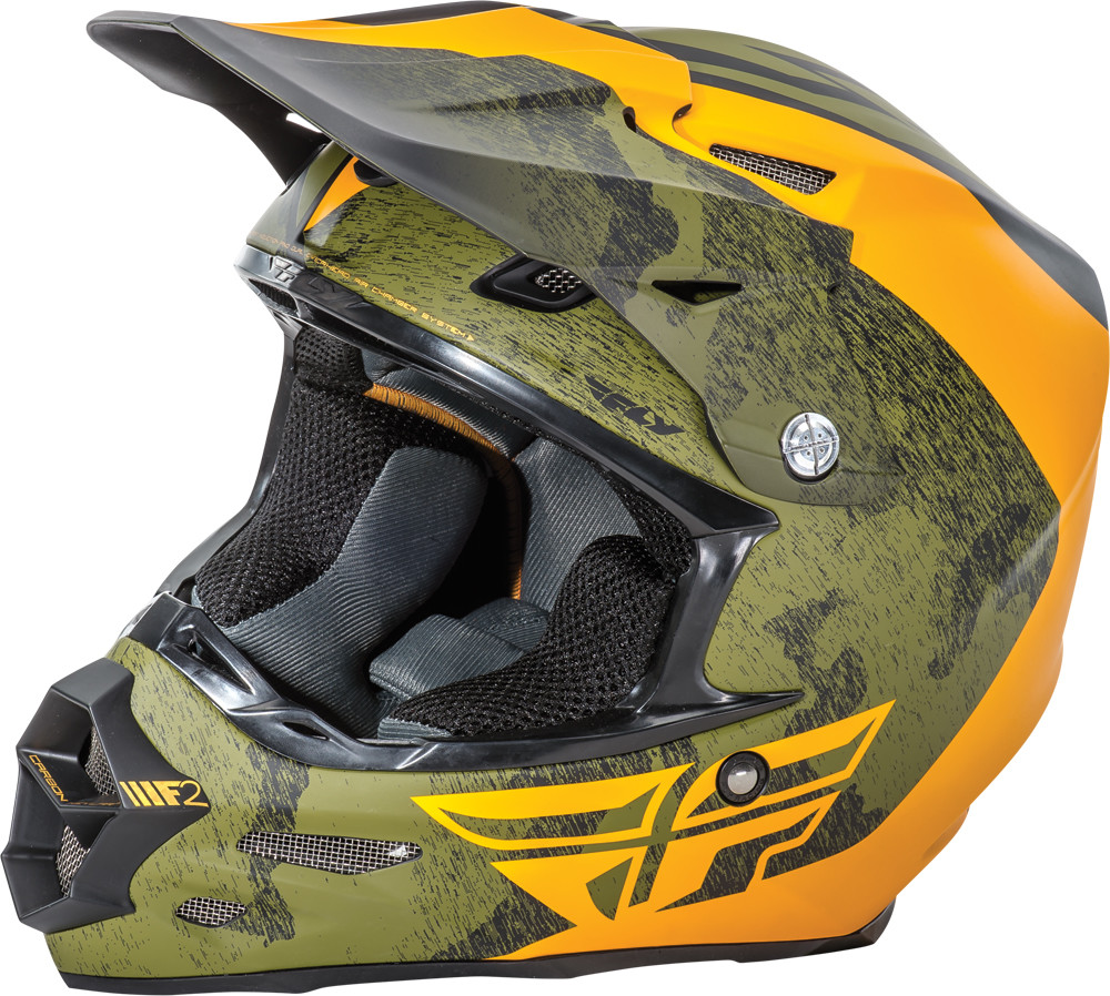 F2 Carbon Pure Helmet Matte Black/Orange/Camo 2X