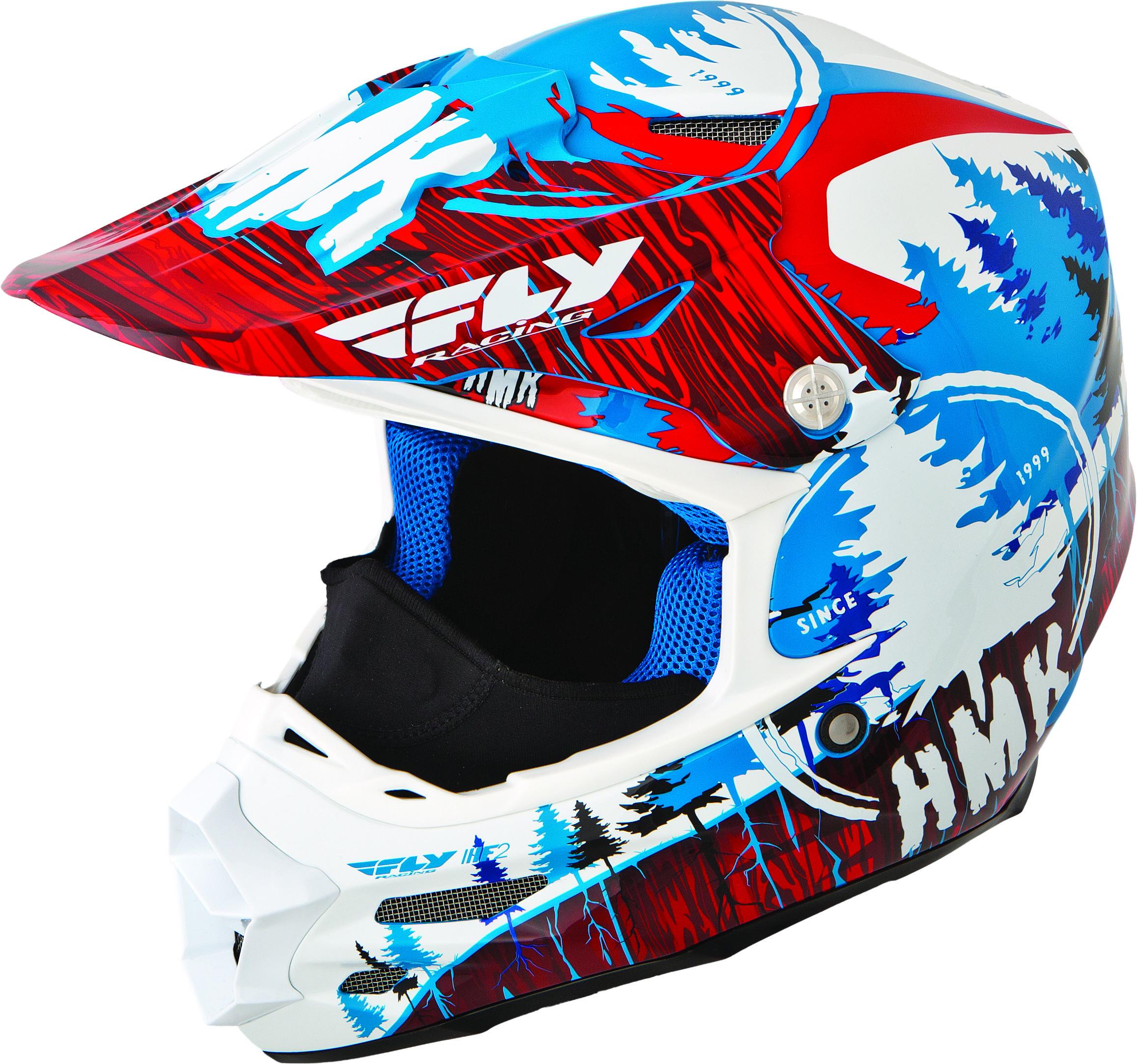 F2 Carbon Hmk Pro Stamp Helmet Red/Blue L