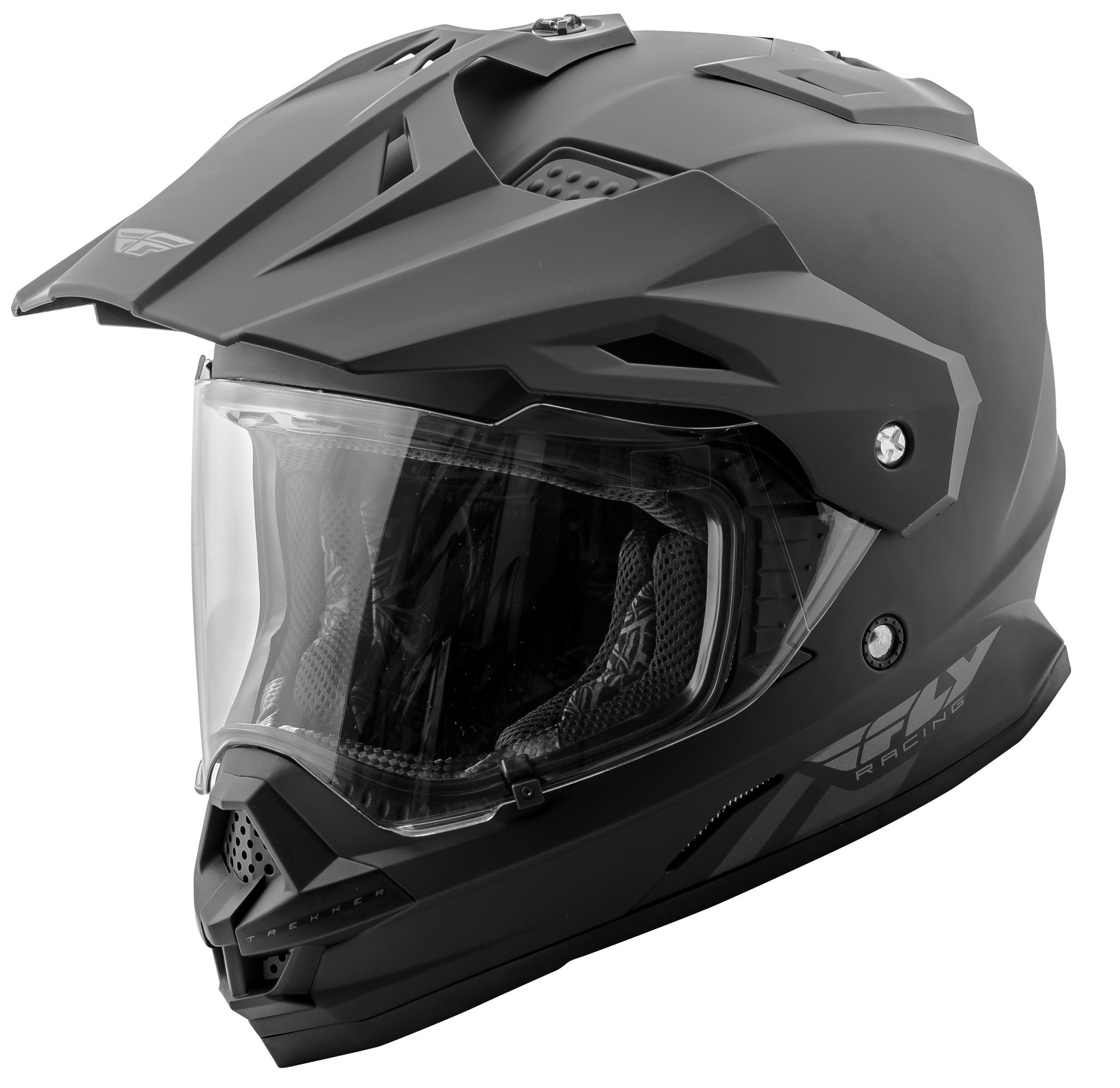 Trekker Solid Helmet Matte Black 2X