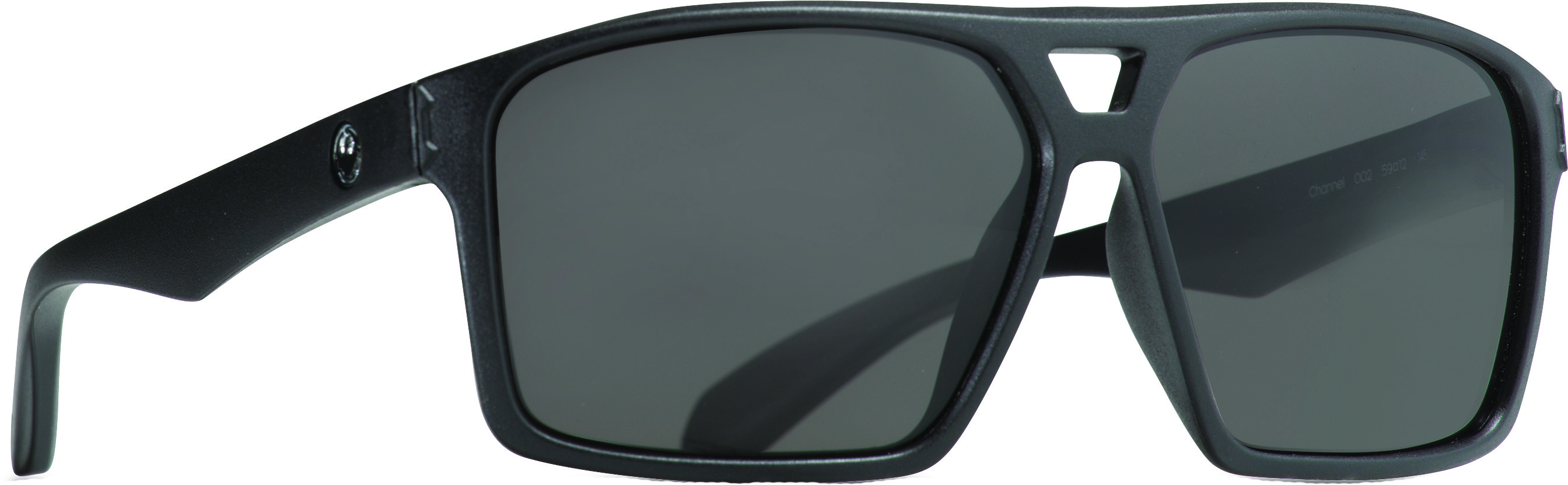 Channel Sunglasses Matte Black W/Smoke Lens