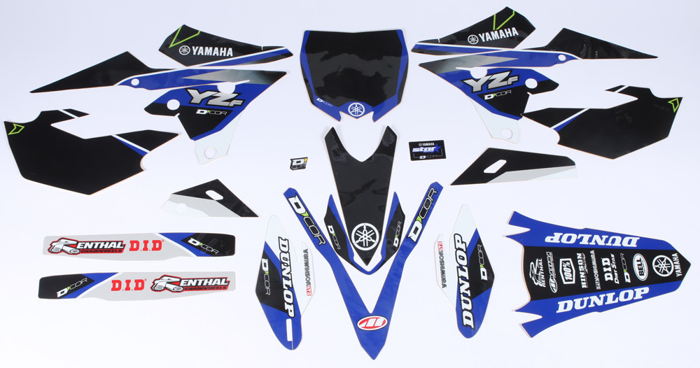 Yamaha Raceline Graphics Complete Graphic Kit Black 862-5205