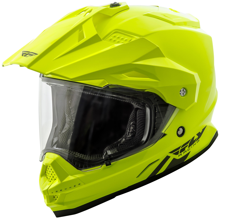 Trekker Solid Helmet Hi-Vis 2X