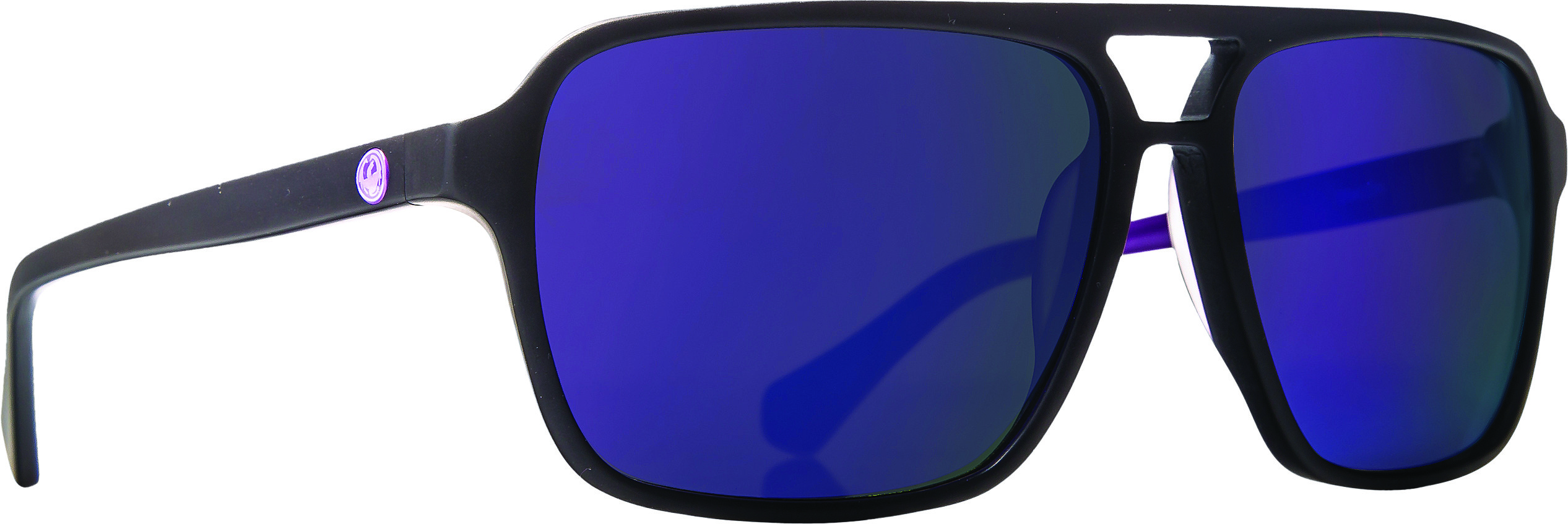 Passport Sunglasses Matte Black W/Purple Ion Lens