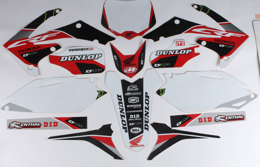 Honda Raceline Graphics Complete Kit White 862-1204